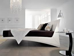 fabulous modern contemporary white polished solid wood bed frame futuristic acrylic adjustable with black sheet varnished bedroom acrylic bedroom furniture