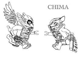 Small Picture Lego Chima Eris the Eagle Versus Worriz the Wolf Coloring Pages