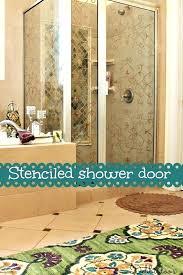 rainx shower door on shower doors master bath shower door stenciled is safe for shower doors