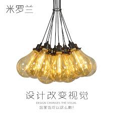 get ations miluo lan restaurant chandelier creative color glass bubble chandelier chandelier bar american retro personality
