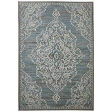 6 x 9 blue classic outdoor rugs rugs the home depot