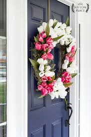 wreaths for front doorsDIY Wreaths to Decorate Your Front Door for Easter  Southern Living