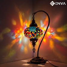 details about turkish moroccan style mosaic multicolour lamp desk table lamp light large globe