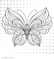 Have your child fill in the wings and petals with every color of the rainbow. Butterfly Colouring Page Coloring Pages Printable Com