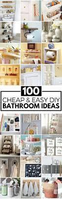 100 Cheap And Easy Diy Bathroom Ideas Diy Bathroom Decor Home Remodeling Diy Diy Bathroom