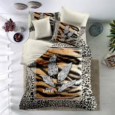 leopard print bedding set 3d quality duvet cover bedding sheet pillowcase drop with 125 8 set on jinggonghome s dhgate com