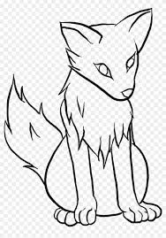 Anime Wolves To Draw Easy Cute Wolf Drawings Hd Png Download