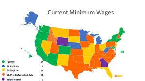 Arizona Minimum Wage Chart State Minimum Wage Developments National Conference Of