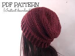 Hipster Beanie Crochet Pattern Fascinating Trendy Ribbed Slouchy Beanie Crochet Pattern Crochet Pattern Slochy