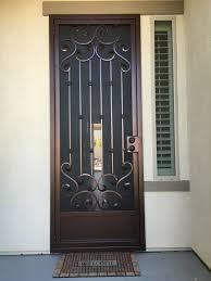 black metal screen doors. Elegant Wrought Iron Storm Door Scrolled Security Throughout Doors Ideas 4 Black Metal Screen N