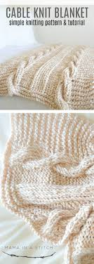 Cable Knit Blanket Pattern Best Decoration