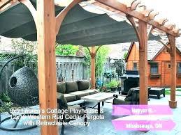 pergola canopy kit retractable with shade diy retr