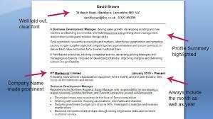 Good Cv Example Cv Template On Target Recruitment