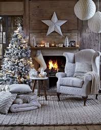 Christmas Living Room Decorating Ideas Stunning 48 Rustic Chalet Interior Design Ideas Offwhite Rustic Livingroom