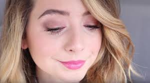 natural looking spring pinks makeup tutorials for blue eyes
