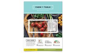 Flyer Design Food Food Beverage Flyers Templates Design Examples