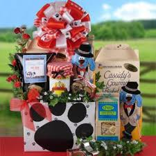 gourmet gift baskets dog gift baskets