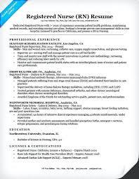 Sample Nurse Resume Sample Resume Emergency Room Nurse Er Nurse
