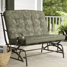 cushion jaclyn smith cora cushion double glider outdoor living patio furniture gliders rockers swing cushions