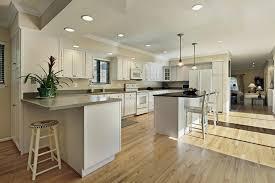 fascinating kitchens with white cabinets. Fascinating Kitchens With Hardwood Flooring White Cabinets Floors Floor Dark Design