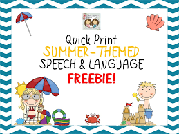 Summer-Themed Opened-Ended Speech & Language FREEBIE! - Twin ...