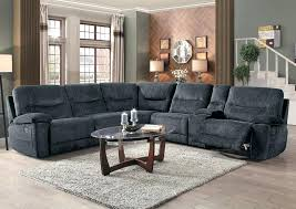6 pc sectional sofa cobblestone w reclining chair nevio leather l shaped