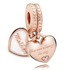 pandora rose mother and daughter hearts pendant charm 782072en23 pandora charms from gift and wrap uk