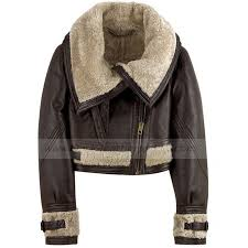 rachel zoe leather jacket with fur collar for womens