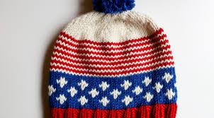 Free Knitted Hat Patterns Magnificent Old Glory Hat A Free Knitting Pattern Alaska Knit Nat