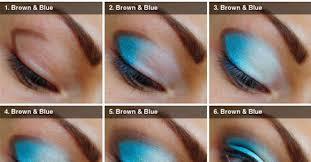 apply blue eye shadow tutorial smokey eyes