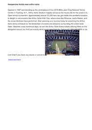 Arthur Ashe Stadium Seating Chart By Chad63concerts Issuu