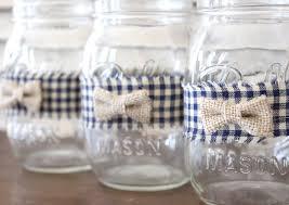 Decorating Mason Jars For Baby Shower Boy Baby Shower Bow Tie Mason Jar Centerpiece Jar and Wraps 92