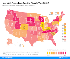 Federal Retirement Percentage Chart How Well Funded Are Pension Plans In Your State Tax
