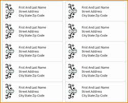 3 Free Address Label Templates Divorce Document