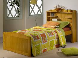 beds with storage headboards. Perfect Storage Pine Single Bed Frame With Bookcase Storage  In Beds Headboards E