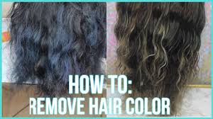 how to remove color from hair 3