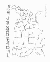 Map Of The Usa Coloring Pages Hellokidscom Us Map Colouring Page