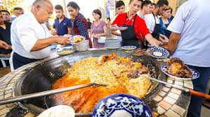 Street Food in Uzbekistan - 1,500 KG. of RICE PLOV (Pilau) + ...