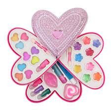 s heart shaped cosmetics play set fashion makeup kit for kids