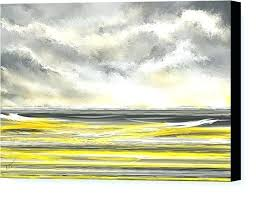 yellow and gray art gray and yellow canvas art yellow canvas print featuring the painting yellow