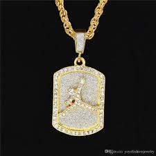 Dog Design Jewelry Wholesale Uodesign Fashion Design Jewelry Sport Mens Dog Tag Pendant Necklaces For Men Military Card Hip Hop Men Ewelry White Gold Pendant Necklace