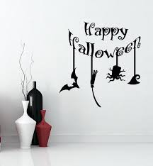 wall decals happy bat broom hat vinyl stickers holiday decor large