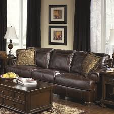 Wayfair Living Room Furniture Darby Home Co Bannister Leather Sofa Reviews Wayfair