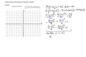 graphing general equation of a hyperbola