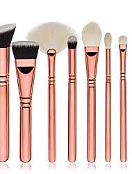 8pcs makeup brushes professional makeup brush set blush brush eyeshadow brush synthetic hair eco friendly full coverage wood