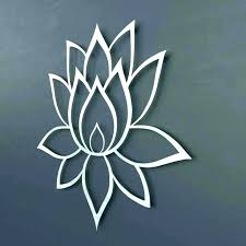 large metal flower wall art lotus decal decor f