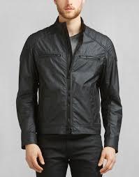 belstaff linford blouson jacket outerwear black 174395 men s waxed cotton belstaff motorcycle jacket