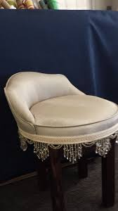 vanity chair swivel vanity stool reupholstered finished with beaded trim of 21 unique vanity