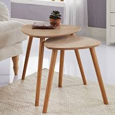 335165 nest of 2 tables oak
