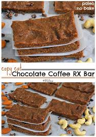 copycat chocolate coffee rx bars paleo protein bars no bake protein bar recipe